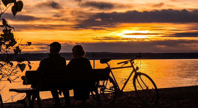 romantic getaway sunset